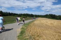 Bei herrlichstem Wetter zogen wir durch die tolle Landschaft.